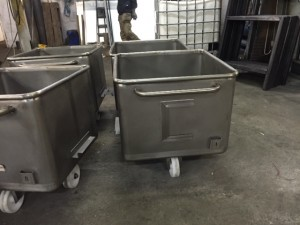 Stainless steel bins with identification card holders1